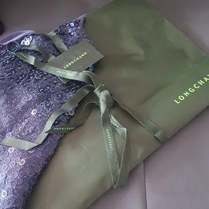 Longchamp  silk sequined scarf